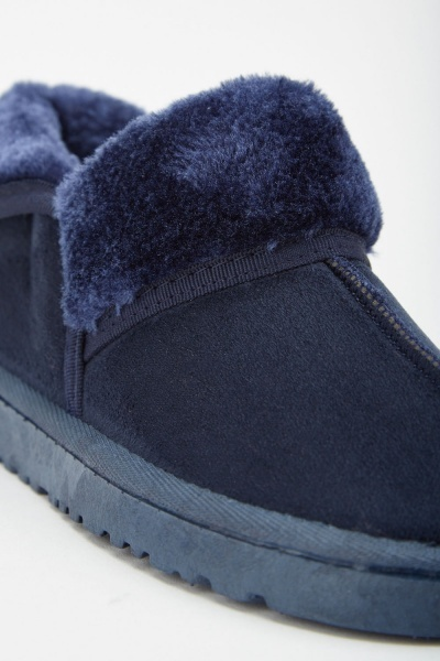 Faux Fur Trim Winter Boots