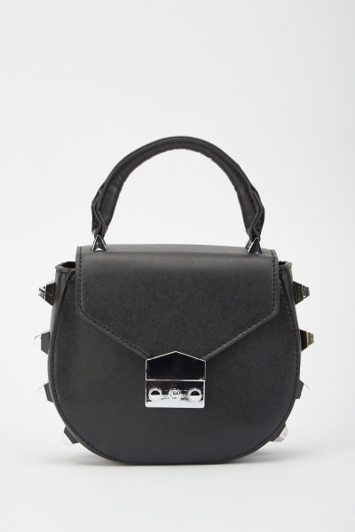 Studded Side Saddle Bag