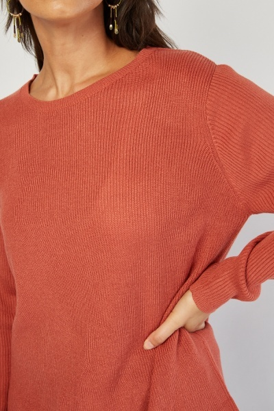 Chiffon Trim Knit Jumper