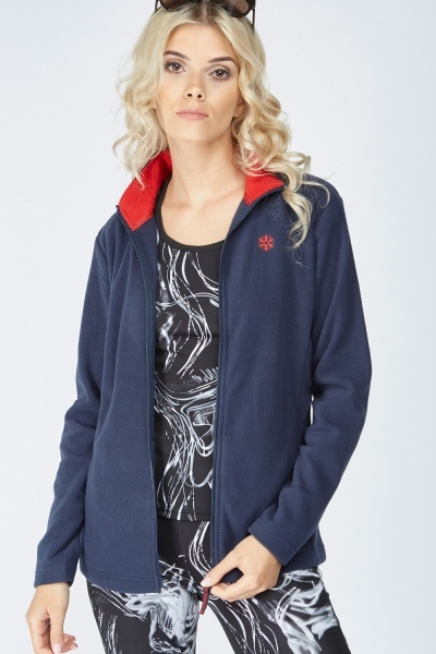 Zip Up Casual Fleeced Jacket
