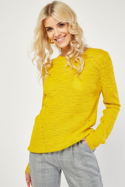 Yellow Chunky Knit Jumper