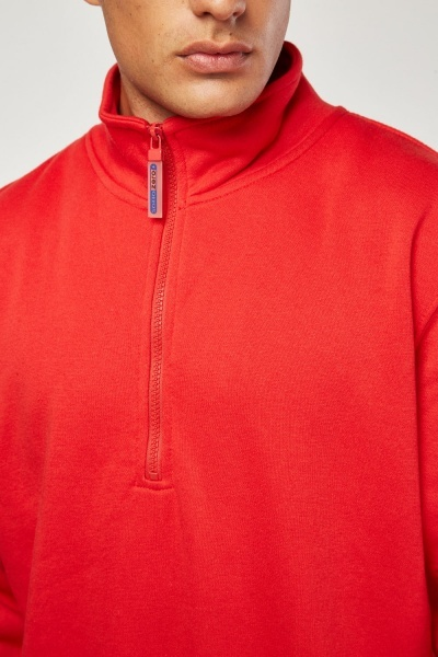 Zipper Front Jersey Jumper
