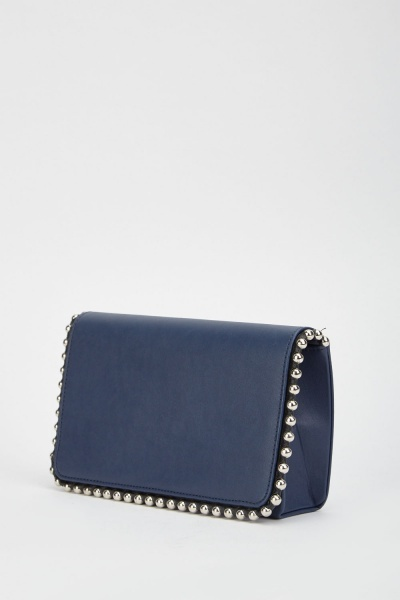 Studded Trim Clutch Bag