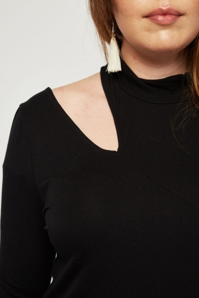 Cut Out Shoulder Panel Top