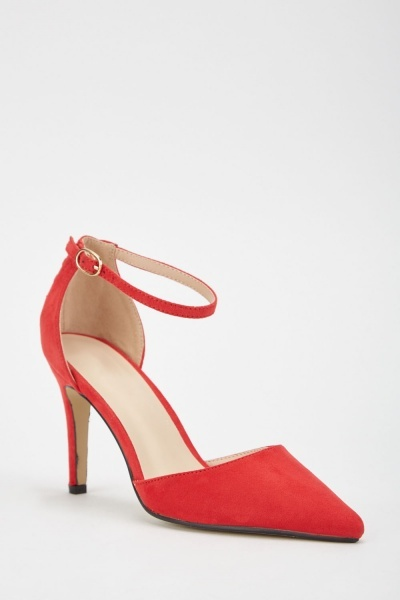 Ankle Strap Pointy Court Heels