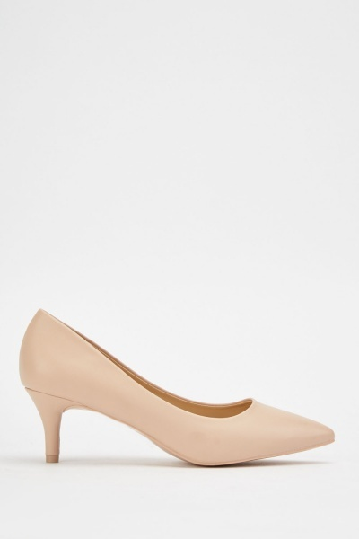 Kitten Heel Pointy Pumps