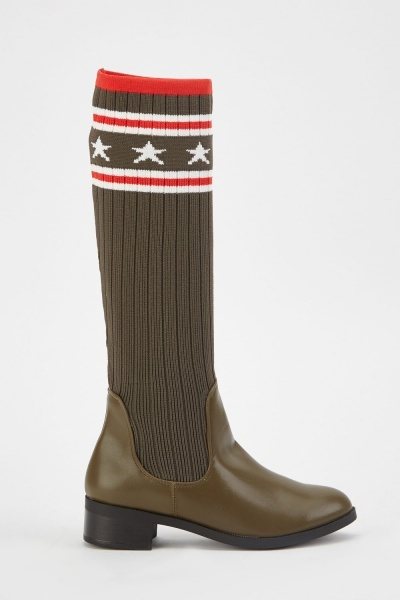 Sock Overlay Riding Boots