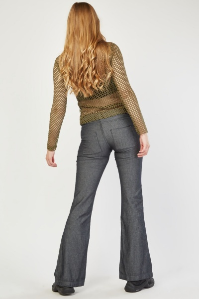 Flared leg Cotton Trousers