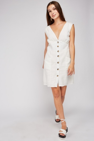 Button Front Cotton Dress
