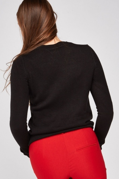Embroidered Festive Knit Jumper