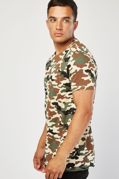 Pack Of 2 Casual Camo T-Shirts