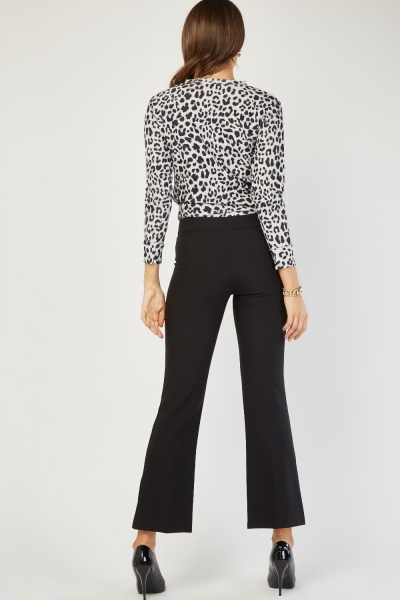 Black Flared Trousers