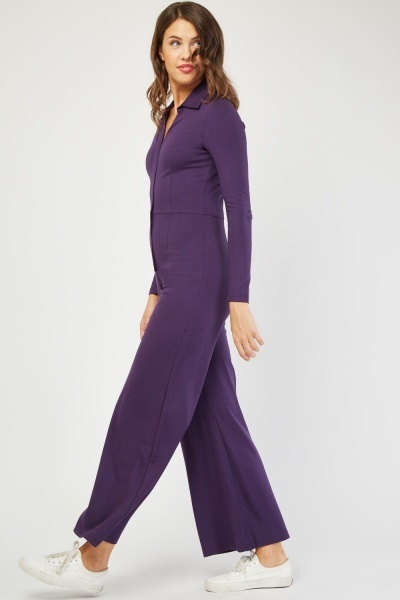 Collared Utility Jumpsuit