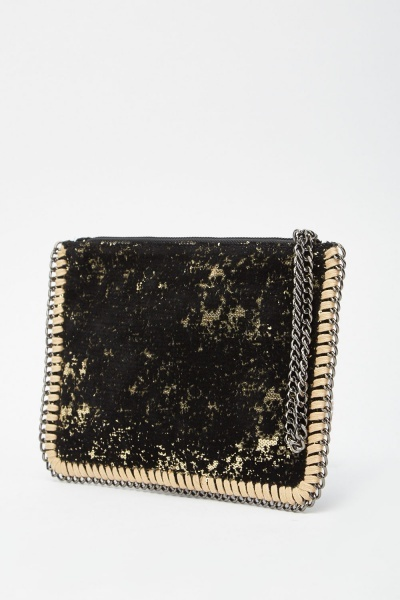 Dual Sided Sequin Clutch Bag