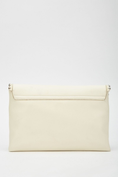 Studded Edge Envelope Clutch Bag