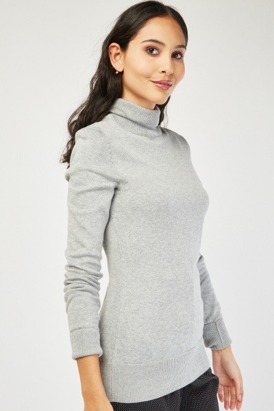 Basic Roll Neck Knit Jumper