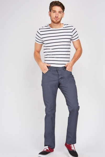 Slim Fit Low Waist Trousers