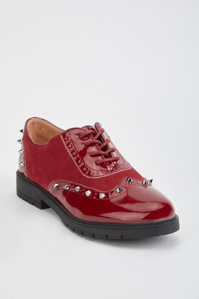 Studded Brogue Shoes