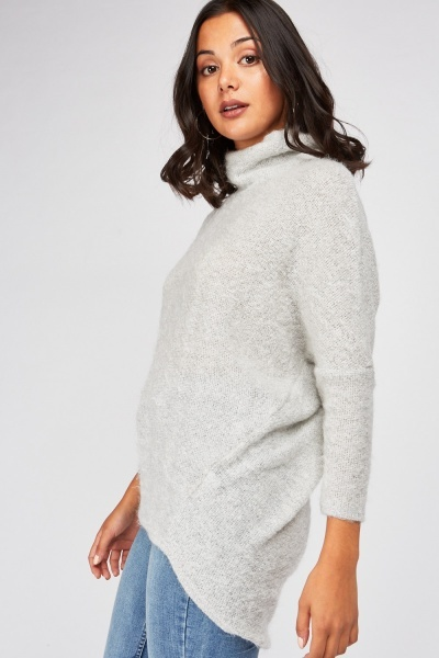 Slouchy Neck Eyelash Knit Jumper