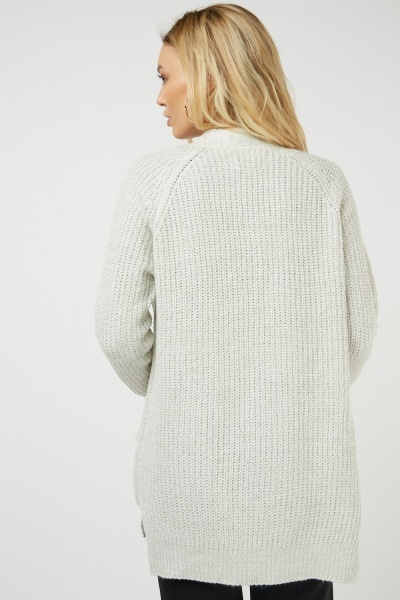 Herringbone Knit Cardigan