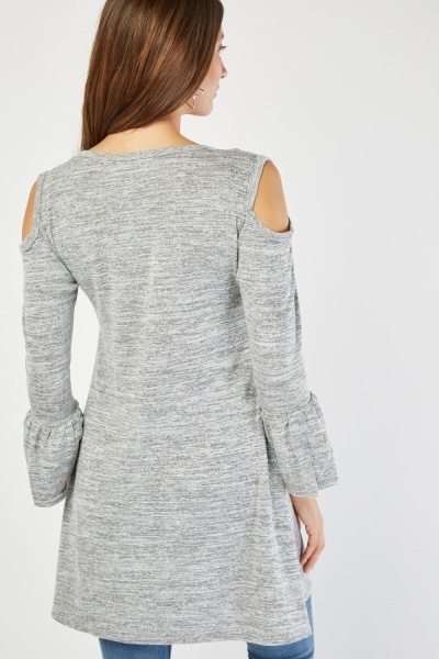 Speckled Bell Sleeve Top