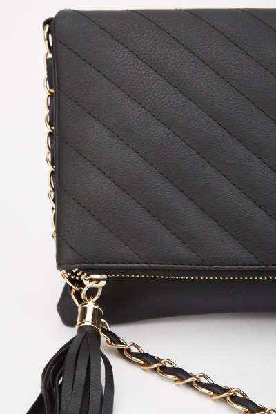 Chevron Quilted Cross-Body Bag
