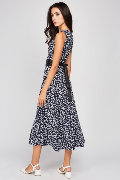 Dandelion Print Midi Dress