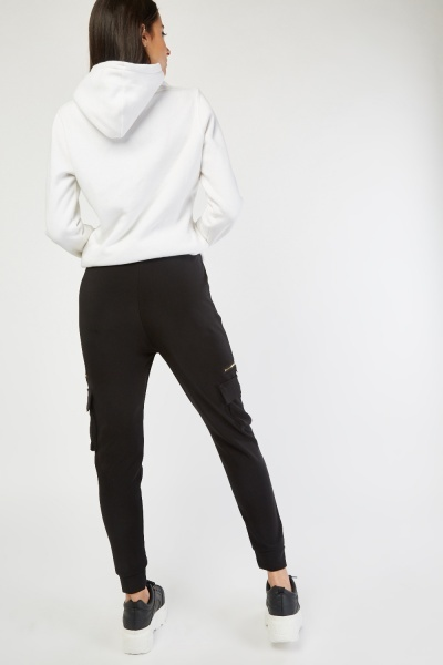 Flap Pockets Side Jogger Pants