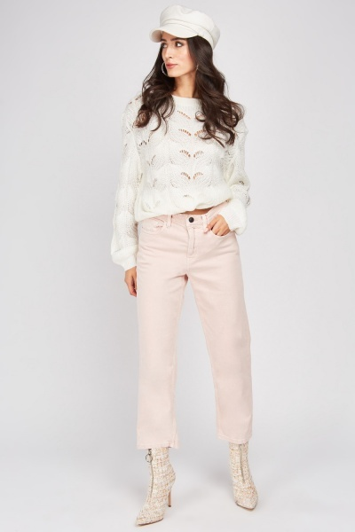 Regular Fit Dusty Pink Jeans