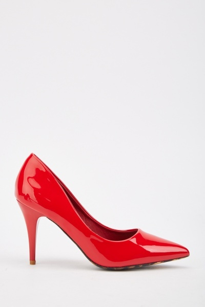 PVC Heeled Court Shoes
