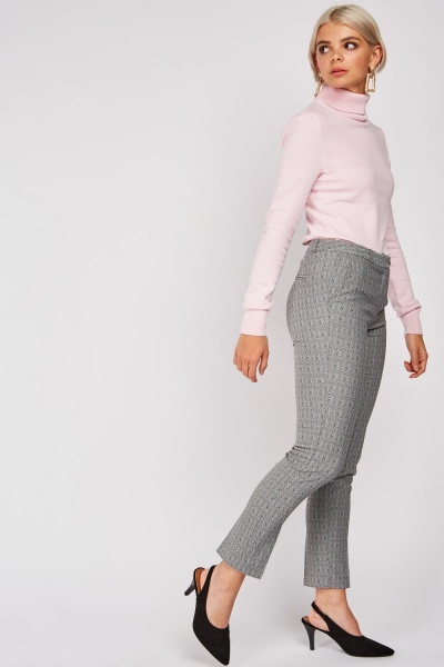 Illusion Print Tapered Trousers