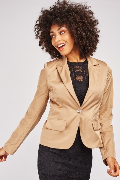 Lapel Front Structured Blazer