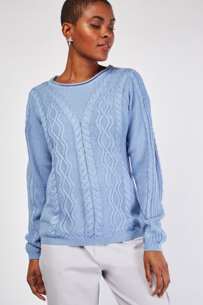Mix Pattern Knitted Jumper