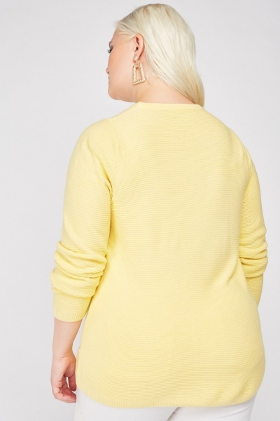 Ribbed Long Sleeve Knit Jumper