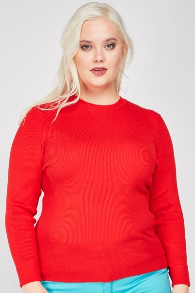 Long Sleeve Ribbed Knitted Top