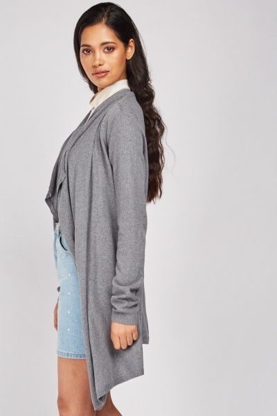 Waterfall Front Knit Cardigan