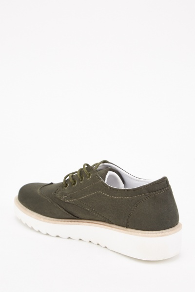 Faux Suede Oxford Shoes