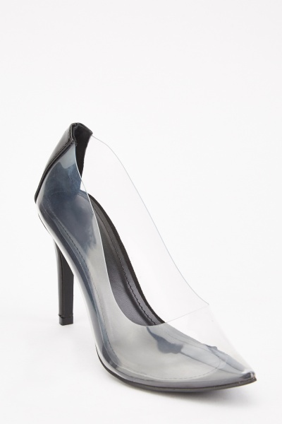 Transparent Court Heels