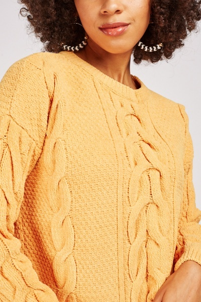 Cable Knit Chenille Jumper