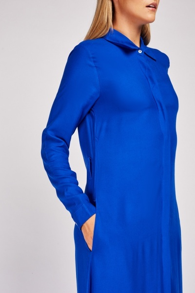 Long Sleeve Plain Maxi Dress