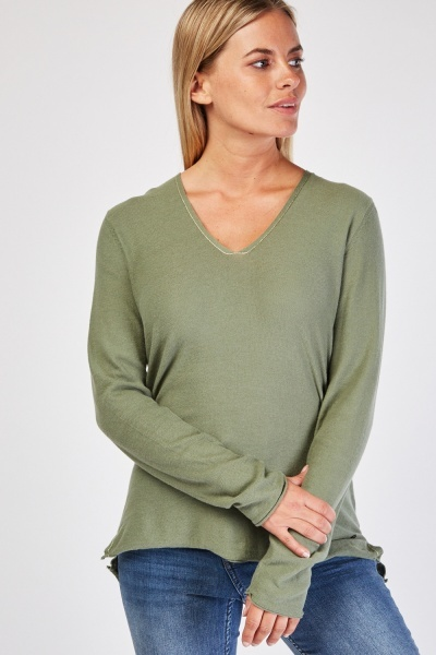 Metallic Stitched Fine Knit Sweater