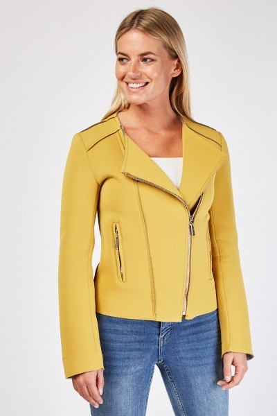 Slanted Zip Front Sucba Jacket