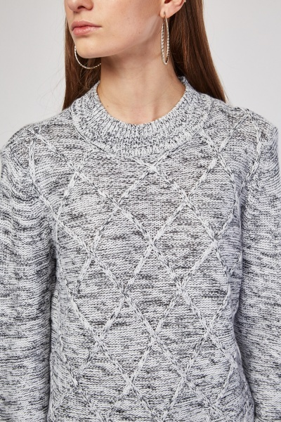 Diamond Speckled Knit Jumper