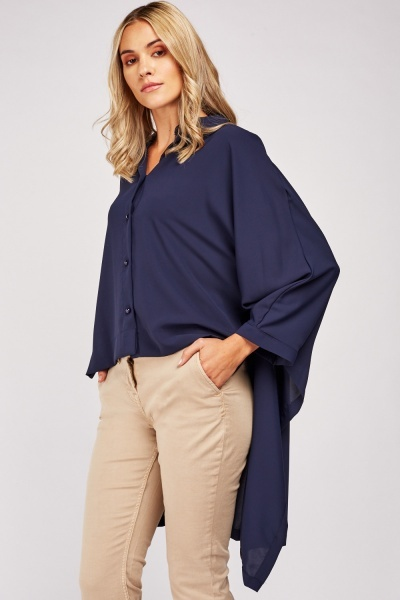 High-Low Button Up Top