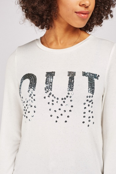 Sequin Embellished Shimmery Top