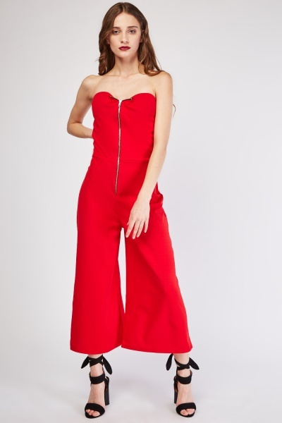 Sweetheart Wide Leg Jumpsuit