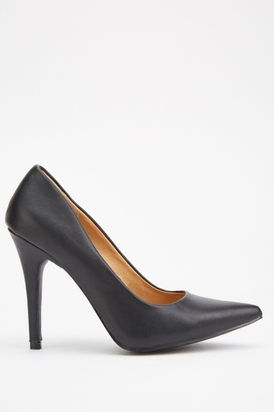 Black Court High Heels