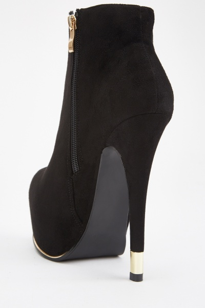 High Heeled Suedette Boots