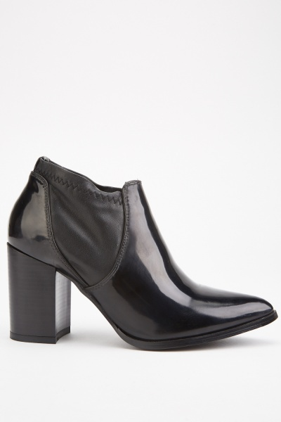Zig Zag Stitched Ankle Boots