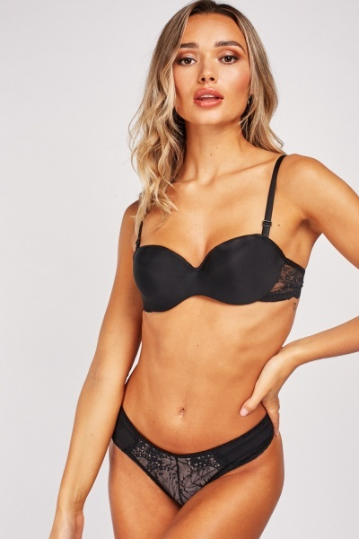 Underwire Bra And Brief Set